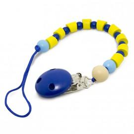 Attache Tétine Boules bleue