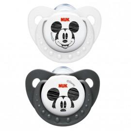 Pack 2 Tétines Nuk de Mickey blanc et noir