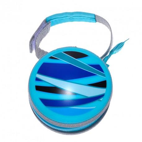 Boite Porte tétine Mam dessin géométrique turquoise