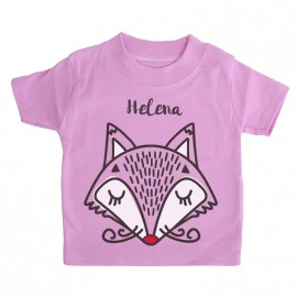 T-shirt  Bébé Personnalisé Renard