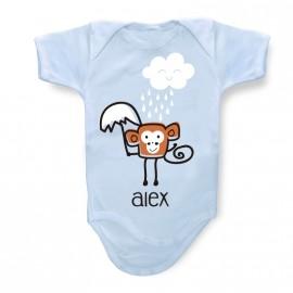 Body Bébé Personnalisé petit singe
