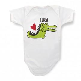 Body Bébé Personnalisé Crocodile