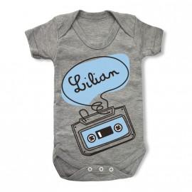Body Bébé Personnalisé Cassette-Vintage