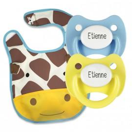 Pack Bavoir Modèle Girafe