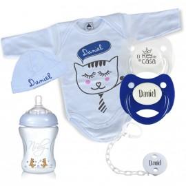 Pack de Nacimiento Gatito Celeste