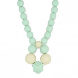 Collier d'allaitement avec formes de couleur vert menthe