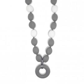 Collier d'allaitement d'olives gris foncé