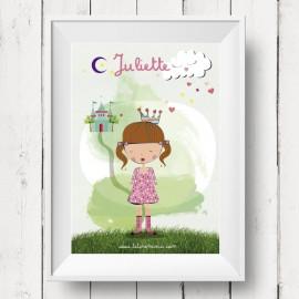 Affiche personnalisée Princesse