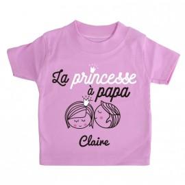 T-shirt Personnalisé La Princesse à Papa