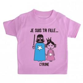 T-shirt Personnalisé Dark et Leia