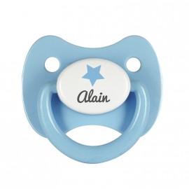 Tétine personnalisée étoile bleu clair