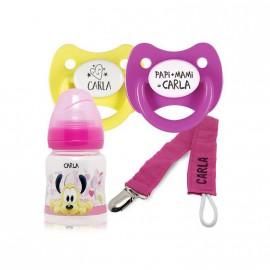 Pack Personalisé Biberon Disney, Tétines et pince